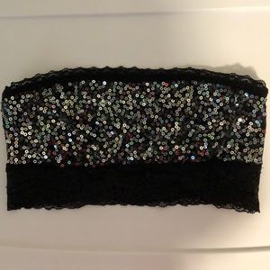 Black Sequin Bandeau